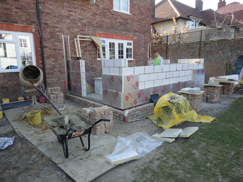 Vicarage Extension coming along